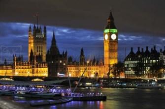 River Thames and Parliament at Dusk