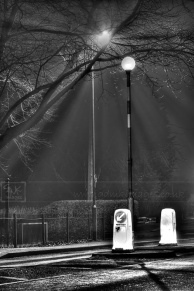 Light rays over a pedestrian crossing