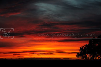 colourful red clouds sunset-M