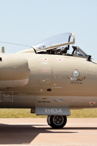 RAF Canberra aircraft with raised cockpit XH134