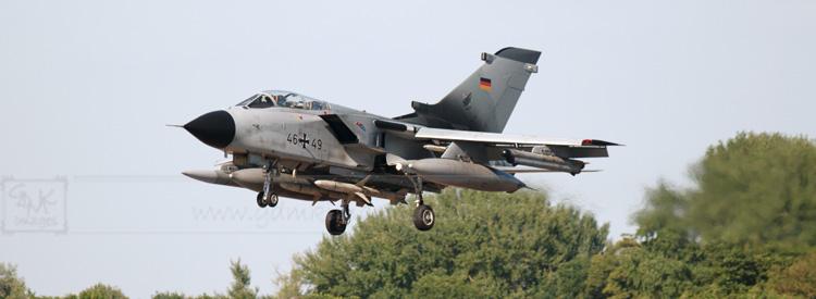 German Air Force Tornado aircraft panoramic format