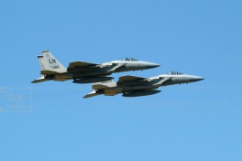 Lakenheath USAF F15 aircraft flying in formation