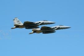 Lakenheath USAF F15 aircraft flying in formation