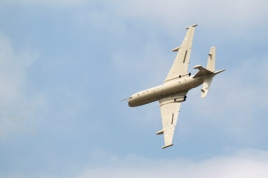 Nimrod MR2 aircraft in tight turn