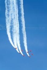 RAF aerobatic aircraft display team Red Arrows