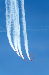 RAF aerobatic aircraft display team Red Arrows