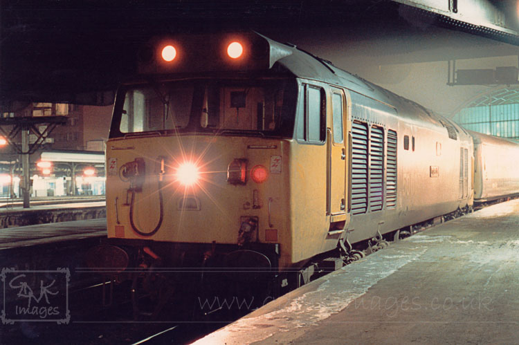 Class 50 diesel loco 50039 Implacable at London Paddington