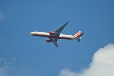 Air India aircraft above Clapham