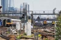Trains at Clapham Jnc