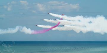 Red arrows aerobatic display team panoramic