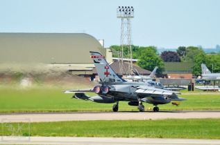 41 Squadron Tornado GR4 taking off from RAF Coningsby