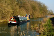 Canal Boat On Ashby Canal Near Sutton Cheney