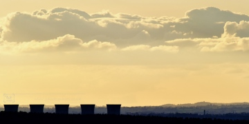 Cooling towers in evening light
