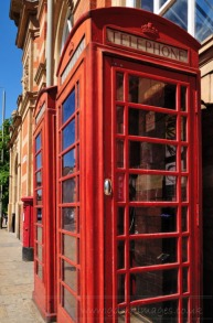 weekly photo project - red telephone boxes