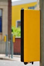 Yellow pedestrian crossing box